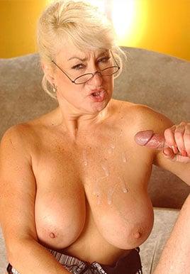 oral granny blowjob